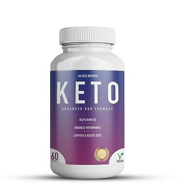 £9.99 • Buy Keto Diet Fat Burner Pills BHB Weight Loss Formula Premium 1200mg 60 Capsules
