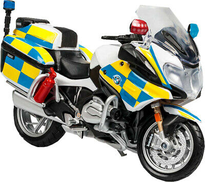 1:18 Police BMW R1200 RT Police Bike Motorcycle Diecast Model Kids Gift Toy • 11.49£