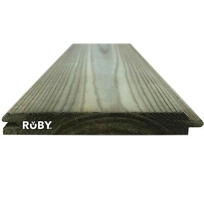 £950.95 • Buy 121mm X 14.5mm Treated Wooden Tongue & Groove Cladding Boards TGV - Bulk Deal
