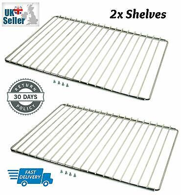 £13.49 • Buy 2 X UNIVERSAL ADJUSTABLE Cooker Oven Shelves Trays Wire Shelf Rack Grill Spares