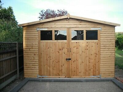 16 X 10 Heavy Duty Coningsby T&G Loglap Wooden Garage Timber Workshop Shed • 2,777£