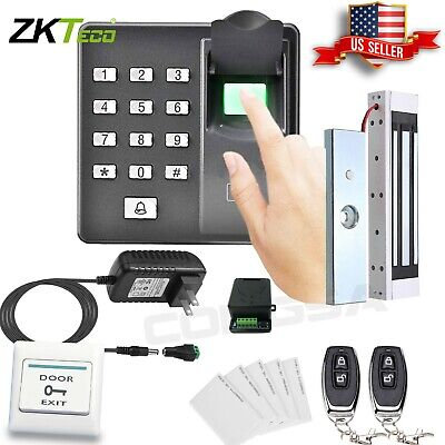 AU190.08 • Buy Door Access Control System Biometric Fingerprint Zkteco, Magnetic Lock, 2 Remote