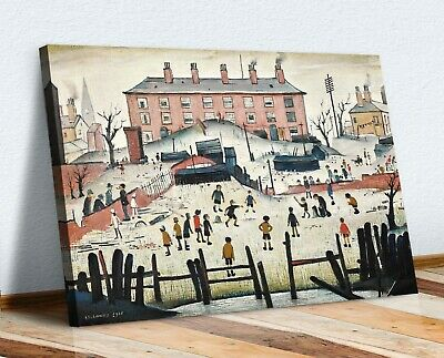 LS Lowry The Cricket Match People CANVAS WALL ART PRINT ARTWORK PAINTING • 12.99£