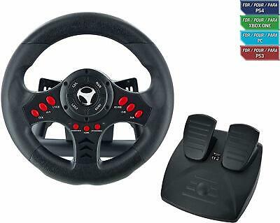 Xbox One Steering Wheel And Pedal Set Racing Gaming Simulator Driving Black NEW • 57.44£