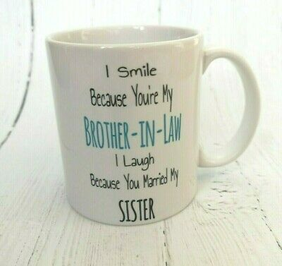 Brother In Law PERSONALISED Birthday Mug & Coaster - Novelty Gift Funny Present • 10.10£