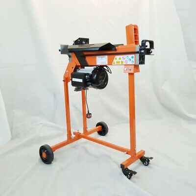 Electric Log Splitter 5 Ton Axe Maul Cutter With Work Bench, Guard & Trolley • 294.49£