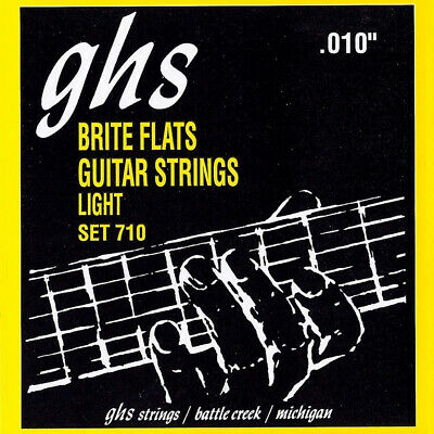$ CDN15.95 • Buy NEW GHS 710 Brite Flats Light Electric Guitar Strings (10-46)