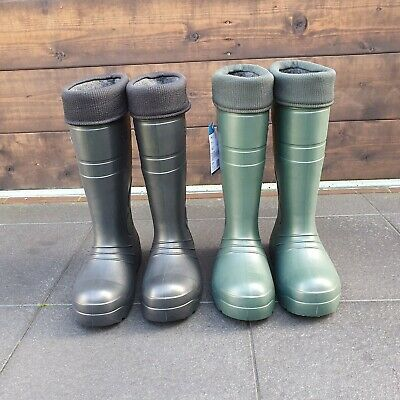 £27.48 • Buy Thermal Wellies Wellingtons Mens Womens High Calf Rain Muck Boots Shoes All Size