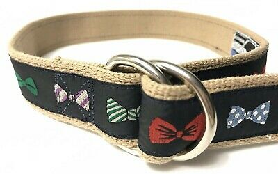$14.85 • Buy Moonshine Bow Ties Bowties Child's Small 27  Canvas Navy Ribbon D-Ring Belt EUC