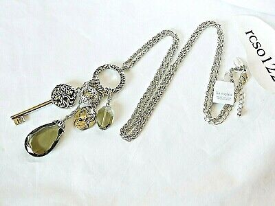$ CDN31.21 • Buy Beautiful Lia Sophia  REACH, By Paula  Cluster/Charm Necklace, 32-35  Long, NWT