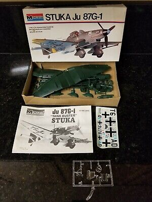 $10 • Buy Vintage Monogram German Stuka Ju 87g-1 1/48 Scale Plane Model Kit