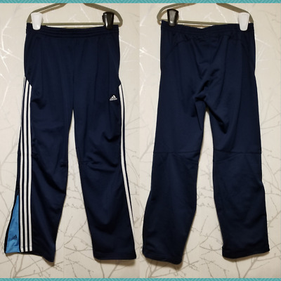 $ CDN33 • Buy Adidas Navy 3 Stripe Tricot Open Bottom Track Pants | Men's L | 32  Inseam