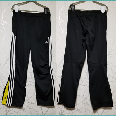 $ CDN33 • Buy Adidas Black 3 Stripe Tricot Open Bottom Track Pants | Men's L | 32  Inseam
