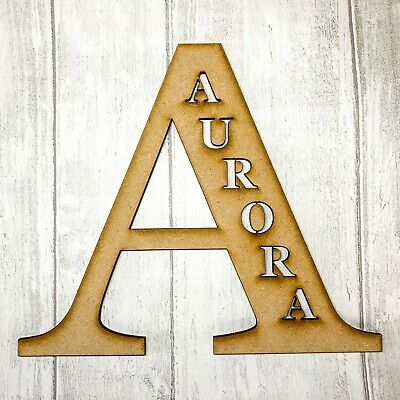 £13.99 • Buy Large Wooden Letters And Name Cut Out Size 20-40cm  Bedroom Decor Nursery Sign