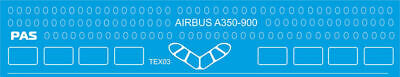 1/144 PAS-DECALS. REVELL. ZVEZDA Decal For Airbus A350-900 White Elements • 12.87£