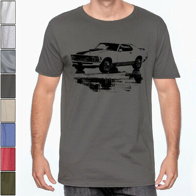 $18.95 • Buy 1970 MUSTANG Mach 1 Soft T-Shirt Classic Muscle Car Multiple Colors & Sizes