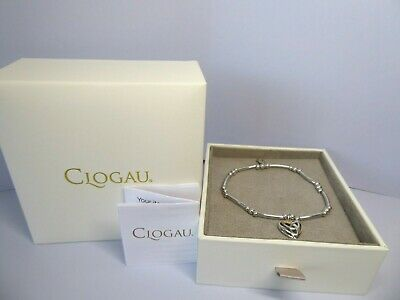 Clogau Gold, Silver & Rose Gold Eternal Love Bead Bracelet 16cm RRP £109 • 58£