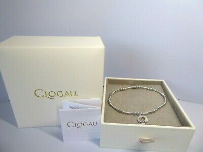 Clogau Gold Silver & Rose Gold Take My Heart Bead Bracelet 18cm RRP £99 • 59£