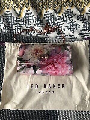 Ted Baker Floral Bag. Removable A Chain Strap. Cross Body/clutch. Used Once • 23.75£