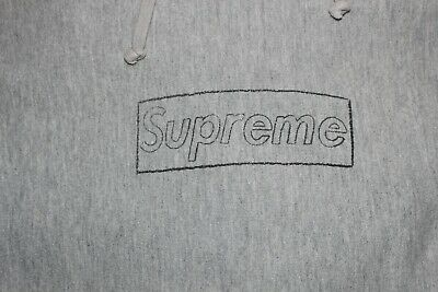 $399 • Buy Supreme Kaws Box Logo Hoodie Size Medium Gray