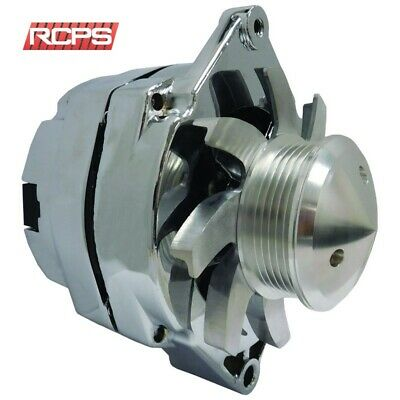 $ CDN106.51 • Buy New Gm 100amp Chrome 1-wire Alternator With Billet Fan & 6-groove Pulley