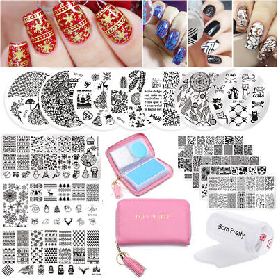 $9.99 • Buy Born Pretty Nail Art Kits Stamping Plates Stamper Scraper Print Tools Collection