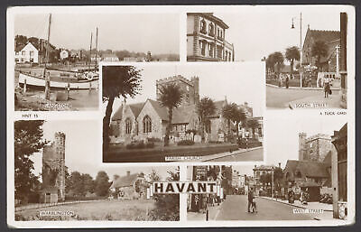 £4.95 • Buy Havant, Hampshire. 5 Image Multiview Real Photo Postcard Posted In Cosham 1954