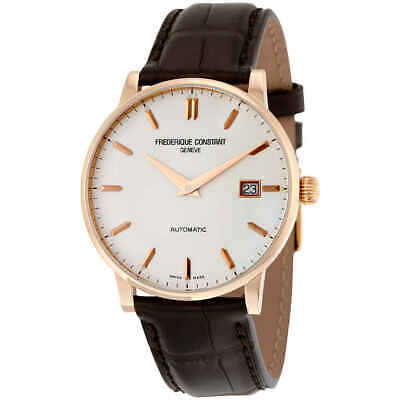 $2304.75 • Buy Frederique Constant Slimline Automatic Silver Dial 18k Rose Gold Men's Watch