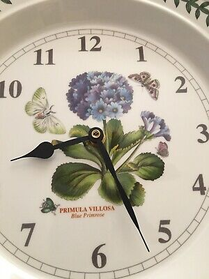 "Portmeirion ~ ""Botanic Garden""~ Blue Primrose ~ 10½  WALL CLOCK AA Battery • 27.80£"