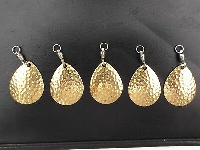 $3.99 • Buy Colorado 4 1/2 Hammered Gold Spinner Bait Blades With #3 Sampo Swivel  Pk. Of 5