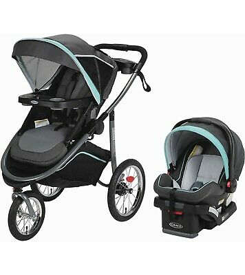 Graco Modes Jogger Click Connect Travel System With SnugRide 35 Baby Car Seat • 238.06£