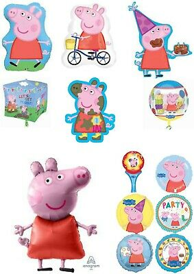 Licensed Peppa Pig, George & Friends Foil Helium Balloons Party Ware Decoration • 2.80£