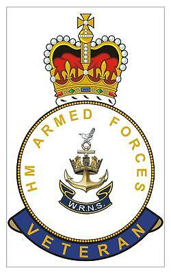 Classic  HM Armed Forces WRNS Womens Royal Naval Service Veterans Sticker • 2.04£