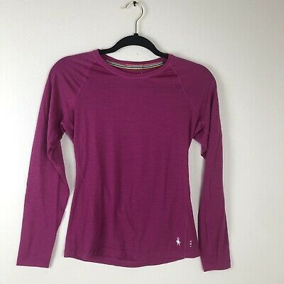 $29.75 • Buy  Smartwool Womens Size S Merino Wool 150 Baselayer Striped Long Sleeve Purple