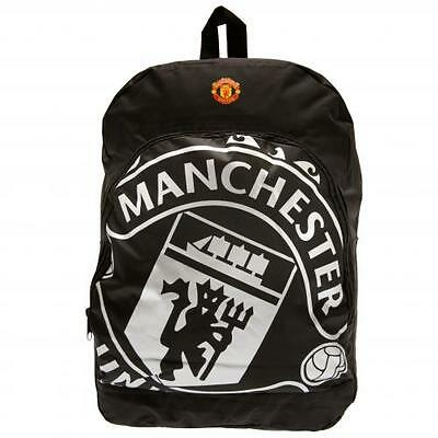 Manchester United FC / Man Utd Official Black Nylon Backpack School Bag Present • 16.89£
