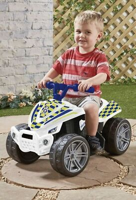Kids Evo Police Quad Bike Car 6V Battery Operated Ride On - Ref3 • 34.99£