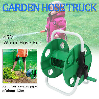 45M Portable Wall Mounted Hose Reel Free Standing Garden Water Pipe Rust Proof • 13.39£