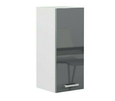 £69.95 • Buy Grey Gloss Kitchen Unit 30cm 300mm Wall Cabinet 1 Door Cupboard Soft Close Luxe