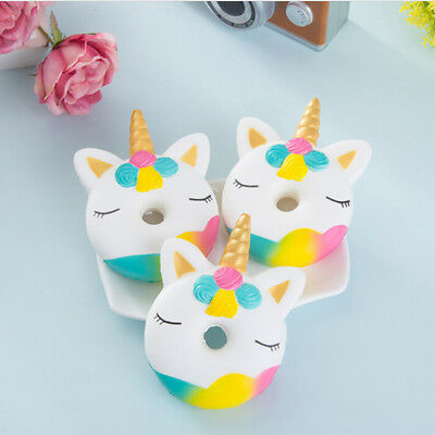 AU4.87 • Buy Unicorn Donut Cake Bread Squishies Cream Scented Slow Rising Kids Toy TO