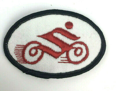 $4.54 • Buy Suzuki Motorcycle S Patch Vintage 70s 80s Black Red White Stitched 3.25  Badge