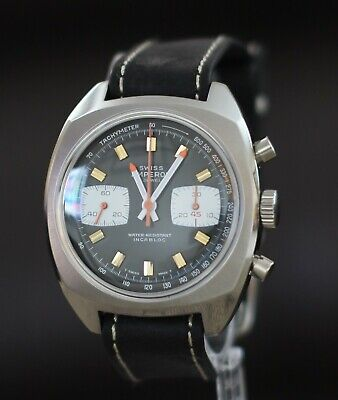 $ CDN500 • Buy Exceptional SWISS EMPEROR 70's Vintage Watch Chronograph Valjoux Cal. 7733