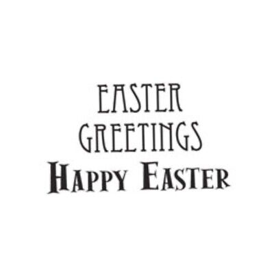 Woodware Happy Easter Greetings Sentiment 2 Piece Clear Stamp Set Card Making  • 3.25£