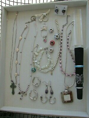 $ CDN92.78 • Buy Vintage To Mod Sterling Silver Jewelry Lot Not Scrap 127.5 Grams Great Mix