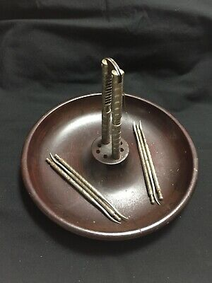 $12.99 • Buy Vintage Nut Cracker Tool Set Solid Wood Bowl 6 Picks 1 Cracker Parsons Products