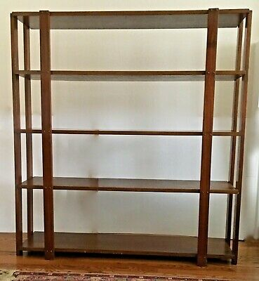 $125 • Buy Vintage Arts & Crafts Oak 4 Shelf Bookcase /Shelf (5 Shelves Counting Top)