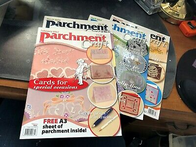 Parchment Craft Magazine 2007 Feb-May (4 Magazines, 2 With Parchment Paper)  • 4.50£