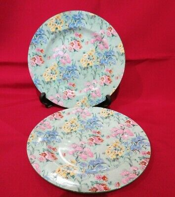 Shelley Melody Chintz Fine Bone China - Set Of  Two  6.75  Salad Plates • 25£