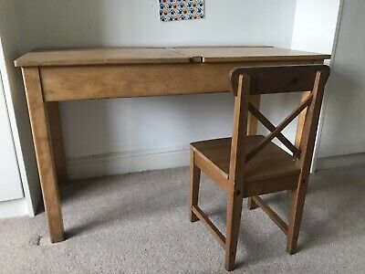 Childrens Double School Desk And Chair • 5£