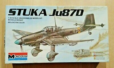 $15.99 • Buy 49-6840 MONOGRAM 1/48th Scale JUNKERS Ju 87D STUKA Plastic Model Kit