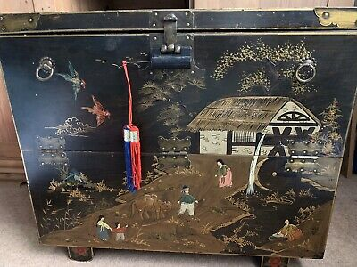 Korean Asian Antique Trunk Box Chest Collectors Item • 50£